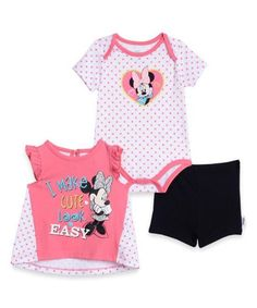 Minnie Mouse 'I Make Cute Look Easy' Tee Set - Infant