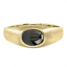 East-West Oval Cut Black Star Sapphire Yellow Gold Pinky Ring For Men Gemologica.com offers a unique selection of mens gemstone and birthstone rings crafted in sterling silver and 10K, 14K and 18K yellow, white and rose gold. We have cool styles including wedding and engagement rings, fashion rings, designer rings, simple stone and promise rings. Our complete jewelry collection of gemstone rings for men can be seen here: www.gemologica.com/mens-gemstone-rings-c-28_46_64.html