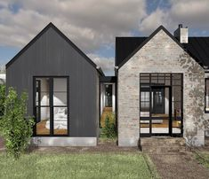 Very fortunate to be working with an enthusiastic client on a French inspired country house in central… Style At Home, Black House Exterior, Villa, Modern Farmhouse Exterior, The Ranch, Modern House Design, Exterior Design, Building A House, Architecture Design