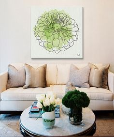 Look at this Watercolor Floral I Gallery-Wrapped Canvas on #zulily today!