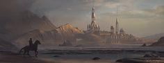 Golden Harbour by Krystian Biskup   Fantasy   2D   CGSociety