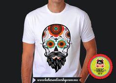 Playera - camiseta Hombre Calavera Hipster de bakasonlineshop en Etsy