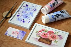 """Floral Watercolor  """"I paint flowers, so they will not die"""" - Frida Kahlo"""