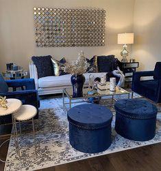 Sofa Trendz Amy Blue Microfiber Polyurethane Sectional