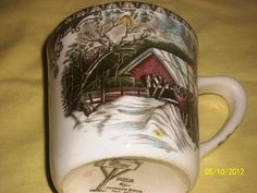 "The Friendly Village ""Covered Bridge"" Coffee Cup in lsenif's Garage Sale in Rutland , VT for $15. Up for sale are Coffee Cups from the Johnson Brothers of England. They are known for their Friendly Village collection and these are great cups that depict the Covered Bridge around them. They have the markings on the bottom from the company, more pictures are available if you send an email to [email removed] If you want to talk pricing please call Ronnie at [Phone Number removed]."