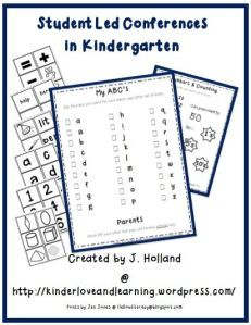 Student Led Conferences in Kindergarten.  Give it a try with this starter pack!