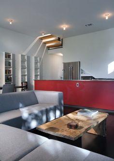 Like a Houseboat / Shipley Architects // peek-a-boo stair
