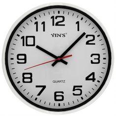 Relógio de Parede Yins YI15055 Prata 30cm - Megazim