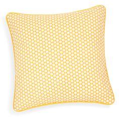 Kissenbezug aus Baumwolle, gelb/grau, 40 x 40�cm, PORTIMAO