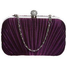 L.Credi Clutch (120 BRL) ❤ liked on Polyvore featuring bags, handbags, clutches, purses, bolsas, purple, hand bags, snap closure purse, purple handbags and man bag