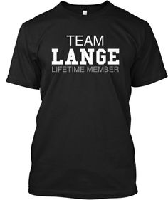 Black Family Reunion Shirts | Team Lange (Limited Edition)
