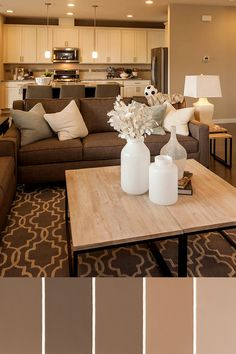 Living Room Decorating With Brown Sofa Photo Of Furniture 19 Best And Cream Images House Decorations Diy A Neutral Design Palette Is Timeless Pulte Homes Cozy Rooms