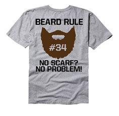 Beard Rule: No scarf No problem  beard tee shirt by GramsTelegrams #shirt  #beard  #facialhair  #mustache  #sideburns #tattoo