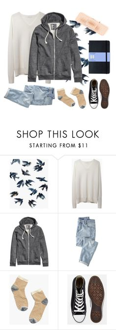 """""""cel"""" by gurdruut ❤ liked on Polyvore featuring Leftbank Art, 6397, H&M, Wrap, Madewell, Converse and Moleskine"""