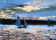 """Winslow Homer (1836-1910) """" Gloucester Sunset."""""""