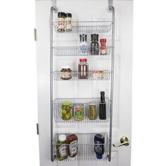 Home Basics Over the Door Pantry Spice and Jar Rack Organizer Great Space Saver Storage for Multipurpose Use For Kitchen Cabinets, Bedrooms, Playrooms, Books Etc. Pantry Door Organizer, Kitchen Pantry Organisers, Over The Door Organizer, Kitchen Cabinet Organization, Cabinet Organizers, Kitchen Storage, Kitchen Cabinets, Shoe Storage Cabinet, Cabinet Doors