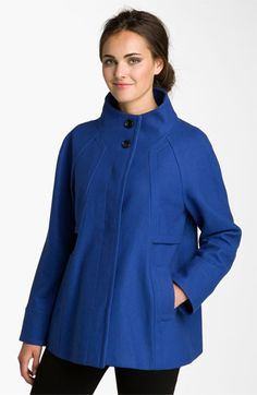 Blue Ellen Tracy Winter Coat, Nordstrom