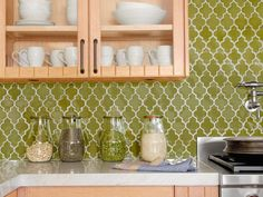 HGTV has inspirational pictures, ideas and expert tips on cool kitchen backsplashes to help you install an attractive, protective wall covering.