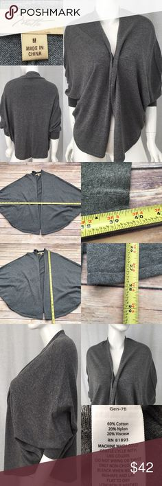 🎍Sz Medium Motto Batwing Gray Open Front Cardigan Measurements are in photos. Normal wash wear, no flaws. D2  I do not comment to my buyers after purchases, do to their privacy. If you would like any reassurance after your purchase that I did receive your order, please feel free to comment on the listing and I will promptly respond. I ship everyday and I always package safely. Thanks! Motto Sweaters Cardigans