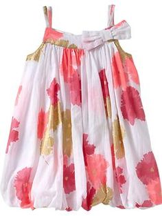 Floral-Print Bubble Dresses for Baby | Old Navy #easter #brunch