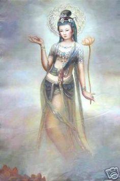 Kuan Yin - The Way of the Bodhisattva: Kuan Yin Pictures Buddha Painting, Buddha Art, Moba Legends, Karate Kid, Abstract Painting Techniques, Goddess Art, Divine Goddess, Taoism, Indian Artist
