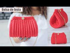 Crochet Bag Tutorials, Crochet Instructions, Crochet Videos, Crochet Stitches, Knit Crochet, Crochet Hats, Crochet Handbags, Crochet Purses, Crochet Baby Dress Pattern