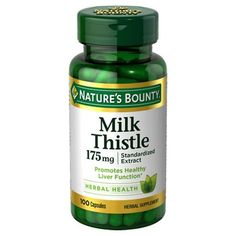 Nature's Bounty Milk Thistle Natural Capsules - 100 Count