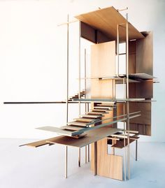 Installation Art, Art Installations, Architecture Model Making, Windows And Doors, Shoe Rack, Stairs, Shelves, Mix Media, Languages