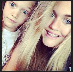 Phoebe and Lottie Tomlinson.