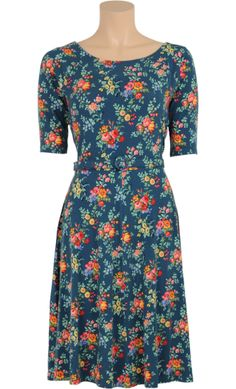 Kleidung & Accessoires Kleider M Romantic Damen King Louie Schwarz Rose Dress Kleider Langarm Gr