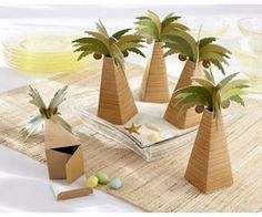 Palm tree favor boxes are unique favors for a beach wedding. Make your destination wedding or beach party memorable with palm tree favors from Kate Aspen. Beach Wedding Favors, Wedding Favor Boxes, Unique Wedding Favors, Wedding Gifts, Tree Wedding, Wedding Ideas, Summer Wedding, Wedding Candy, Wedding Reception