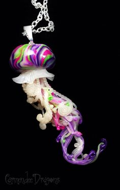 The Joker Jellyfish Pendant by CarmendeeDragons on Etsy