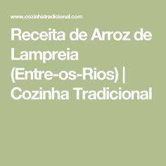 Receita de Arroz de Lampreia (Entre-os-Rios)   Cozinha Tradicional
