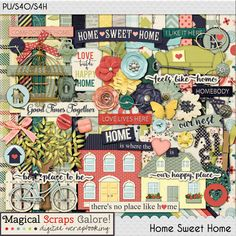 {Home Sweet Home} Digital Scrapbook Kit by Magical Scraps Galore available at Gingerscraps and Scraps-N-Pieces http://www.scraps-n-pieces.com/store/index.php?main_page=product_info&cPath=66_152&products_id=10687 http://store.gingerscraps.net/Home-Sweet-Home.html #magicalscrapsgalore