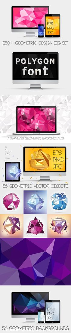 250+ Geometric backgrounds. Patterns