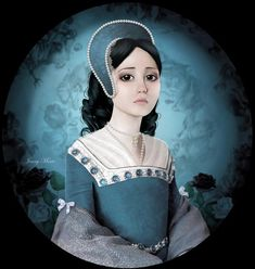 anne boleyn by - Digital Art by Jenny Marie Smith Wars Of The Roses, Queen Of England, Tudor History, Anne Boleyn, The Victim, Fashion Art, Ballet Fashion, Amazing Art, Cool Pictures