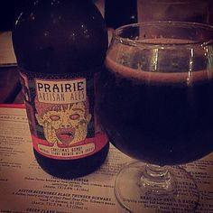 Christmas spices are added to this espresso stout - Christmas Bomb! by @prairieales  #prairieartisanales #espressostout #christmasale