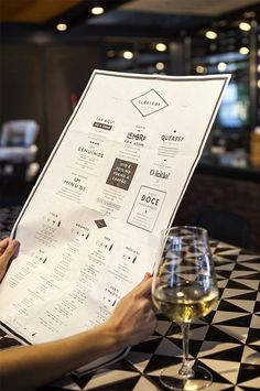 Clérigos | visual communication. graphic design. menu design. restaurant menu. layout. grid. hierarchy. typography.