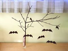 Crafts are a fun way for kids to get creative. View these favorite kids Crafts &Try some of these 80 Coolest Homemade Halloween Crafts for Kids. Halloween Crafts For Kids, Homemade Halloween, Halloween Bats, Holidays Halloween, Halloween Decorations, Halloween Stuff, Halloween Ideas, Bat Craft, Origami