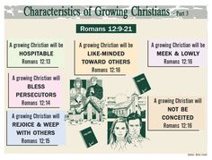 Characteristics of Growing Christians - 3 Bible Study Plans, Bible Study Notebook, Bible Study Group, Bible Study Tools, Bible Study Journal, Famous Bible Quotes, Learn The Bible, Bible Doctrine, Jesus Bible