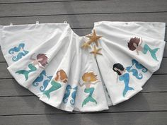 Love these! #Mermaid Coastal Christmas Tree Skirt
