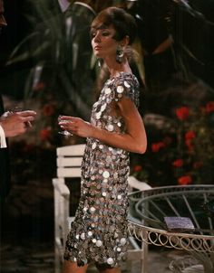 Audrey Hepburn, Two for the Road (1967)  dress by Paco Rabanne.
