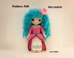 Pattern - Princesse Craquotine avec sa tenue retirable, by Croc's Betty [FR-EN],