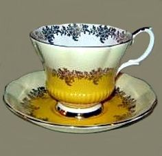 Royal Albert - Pompadour Series- Yellow