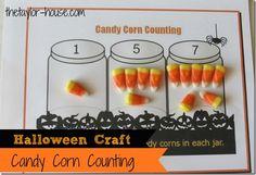 Halloween Kids Activity: Candy Corn Counting {FREE Printable} #freeprintables #halloween