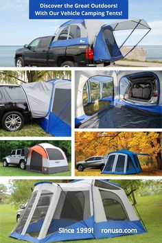 Discover the Great Outdoors with our Camping Tents for Vehicles. #camping #tents