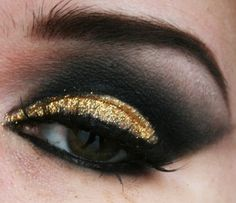 Gold glitter with black