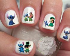 Lilo And Sch Etsy 70 Best Nail Art Images On Pinterest Pretty Nails Cute