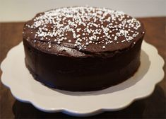 chocolate cake with peanut frosting Chocolate Cake, Frosting, Pudding, Snacks, Baking, Desserts, Food, Cakes, Cook