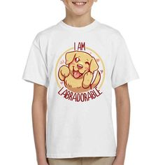 8d43edb7 Im Labradorable Cute Dog Kid's T-Shirt by TechraNova - Cloud City 7 Hoodies,
